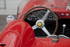 Interior of a classic sportscar Royalty Free Stock Photo