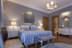 Interior of a classic style bedroom Stock Photography