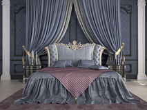 Interior of a classic style bedroom in luxury Royalty Free Stock Photography