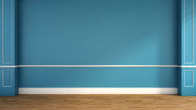 Interior in classic style. blue. 3D illustration Royalty Free Stock Photos
