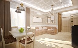 Interior in classic style Stock Photography