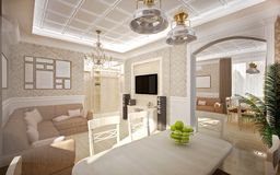 Interior in classic style Royalty Free Stock Photos