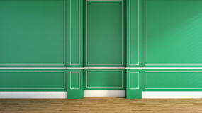 Interior in classic style. green Royalty Free Stock Photography