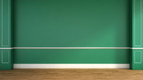 Interior in classic style. green. 3D illustration Royalty Free Stock Photography