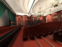 Interior of classic theater Royalty Free Stock Photos