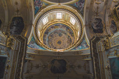 Interior of a classical cathedral Royalty Free Stock Images