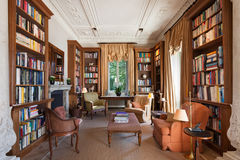 Interior, classical library Royalty Free Stock Photo