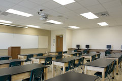 Interior of Classroom Stock Photography