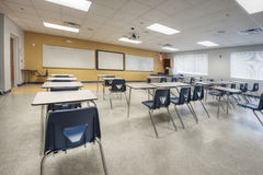 Interior of Classroom. At Middle School in Orlando, Florida Royalty Free Stock Photography