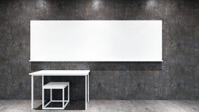 Interior classroom loft style stock photography