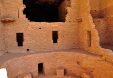 Interior of cliff dwelling in Mesa Verde Stock Photos
