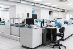 Interior of clinical laboratory and blood bank Royalty Free Stock Photo