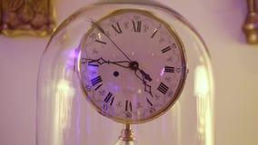 Interior clocks closeup. Interior clocks close up steadicam stock video