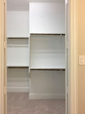 Interior of a closet for clothing Stock Photo