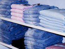 Interior of clothes shop Royalty Free Stock Photo