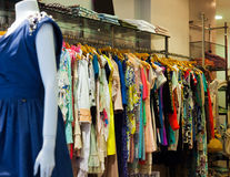 Interior of clothes shop Royalty Free Stock Images