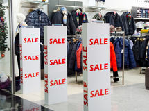 Interior of clothing store Stock Image