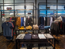 Interior of clothing store Royalty Free Stock Photography