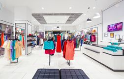 Interior of clothing store. Stock Photography