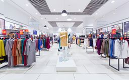 Interior of clothing store. Royalty Free Stock Image