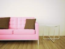 Interior cómodo moderno con la representación 3d Imágenes de archivo libres de regalías