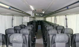 Interior of a coach. Interior of a modern coach Royalty Free Stock Photos