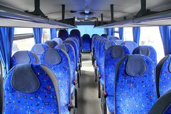 Interior of a coach. Interior of a modern interurban coach Stock Photo