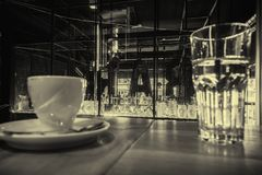 Interior of coffee bar royalty free stock photography