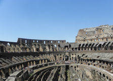 The interior of the coliseum of rome Royalty Free Stock Photo