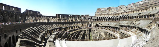 The interior of the coliseum of rome Stock Photography