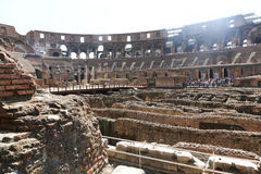 Interior of coliseum , Rome Royalty Free Stock Photography