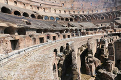 Interior of coliseum , Rome. Apr 21 2015:tourists admire the interior of the ancient roman coliseum in Rome Stock Image