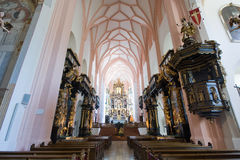 Interior collegiate church Stock Photography