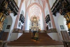Interior collegiate church Stock Images