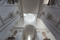 Interior of Collegiate or University Church in Salzburg, Royalty Free Stock Images