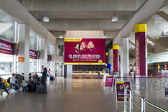 Interior of Cologne airport, Germanwings Royalty Free Stock Photo