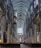 Interior of Cologne Cathedral, Germany. Central nave of Cologne Cathedral, Germany Royalty Free Stock Photo
