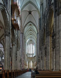 Interior of Cologne Cathedral Royalty Free Stock Photos