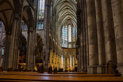 Interior of Cologne Cathedral Stock Images