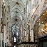 Interior of the Cologne Roman Catholic Cathedral. Royalty Free Stock Photos