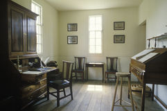 Interior of colonial era office Stock Image