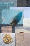 Interior color design selection royalty free stock photos