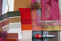 Interior color design selection Royalty Free Stock Photo