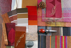 Interior color design selection Royalty Free Stock Images