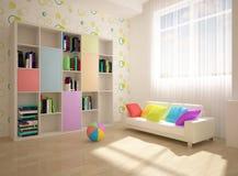 Interior coloreado Fotografía de archivo