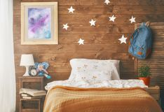 Kids bedroom for girl Stock Images