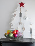 Interior colorido da árvore de Natal Fotografia de Stock