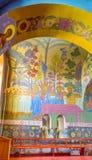 Interior colorido da catedral da trindade santamente Fotografia de Stock