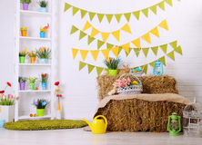 Interior colorido festivo Foto de Stock Royalty Free
