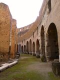 Interior of the Colosseum. Inside the Ancient Rome Colosseum Royalty Free Stock Images